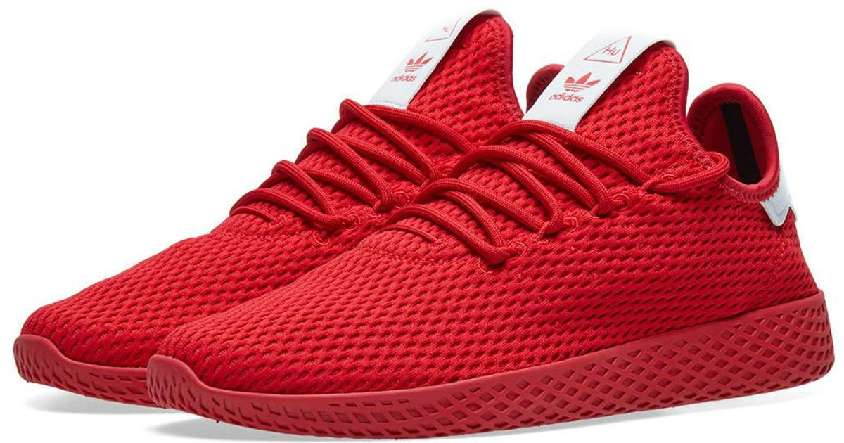 6b03435316890 Lyst - adidas X Pharrell Williams Tennis Hu in Red for Men