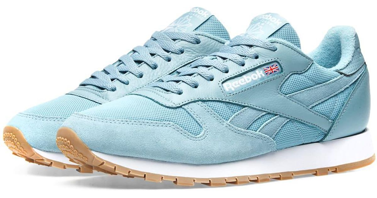 6c1857d2faa6 Lyst - Reebok Essential Pastel Classic Leather in Blue for Men