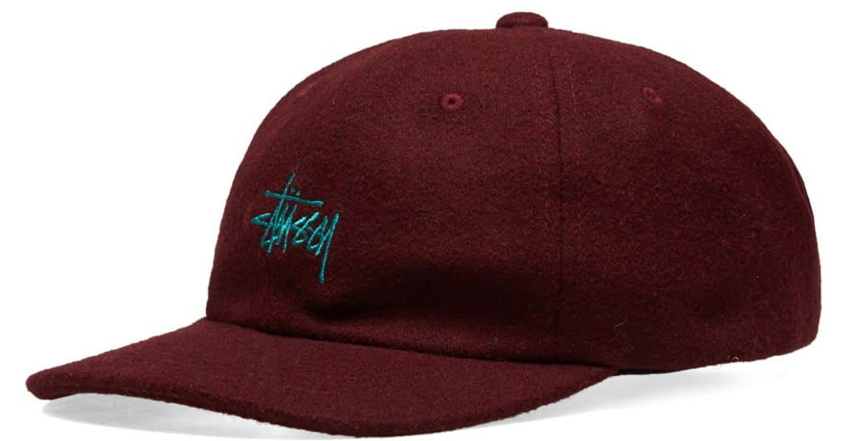 save off f14ac 2f914 Lyst - Stussy Stock Wool Low Pro Cap in Purple for Men
