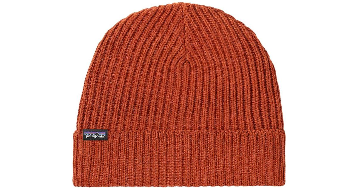 4968bac8cb4ba Patagonia Fisherman Beanie in Orange for Men - Lyst