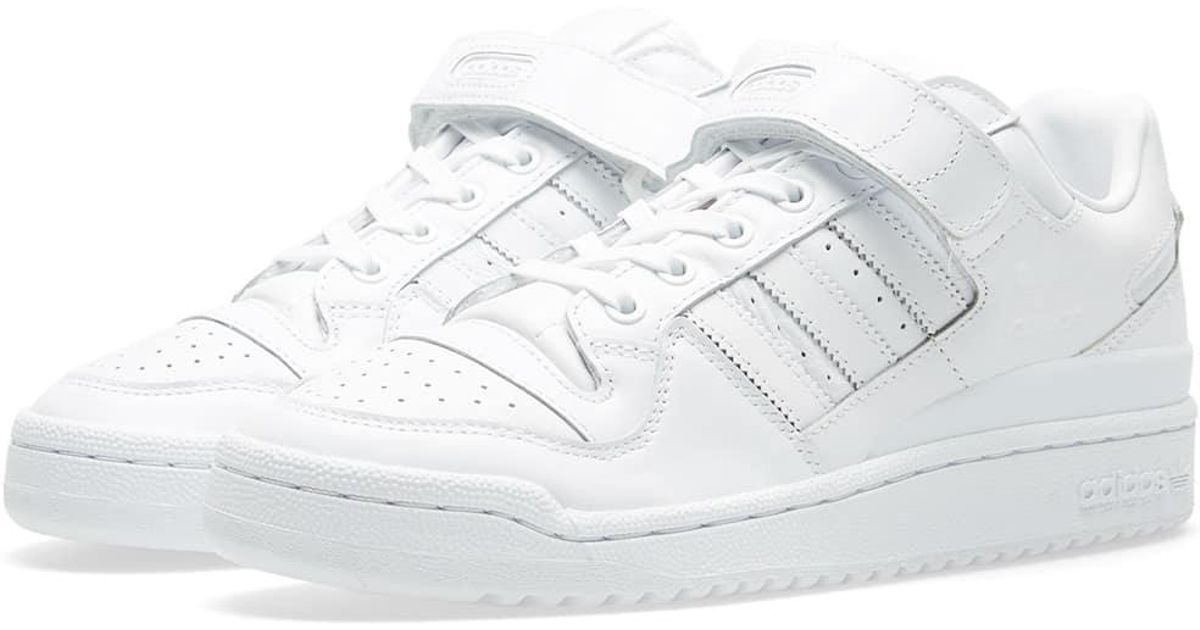 41f6ee80dfc5 Lyst - adidas Forum Lo Refined in White