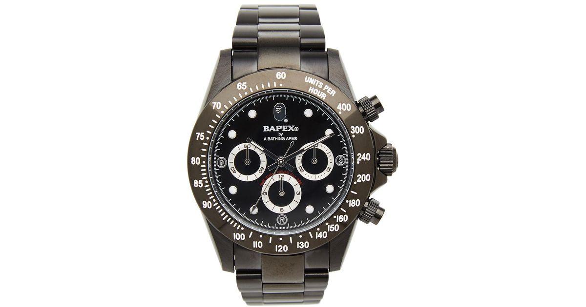 c45c9c4621f2 Lyst - A Bathing Ape Type 3 Bapex Watch in Black for Men