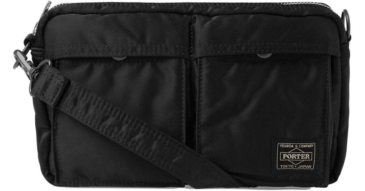 7145d0e826 Porter - Black Tanker Two Pocket Shoulder Bag for Men - Lyst