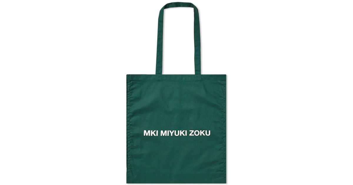 1d12e270a1 Lyst - MKI Miyuki-Zoku Logo Tote Bag in Green for Men