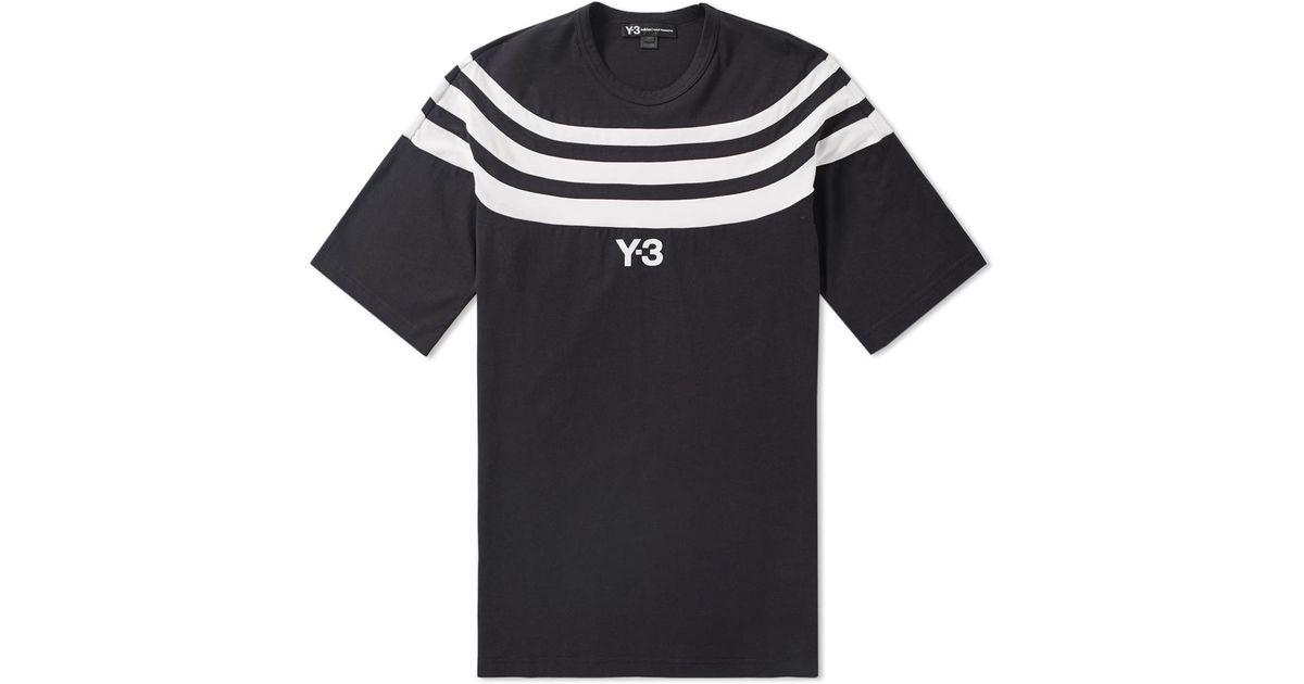 c12b22096992 Y-3 3s Logo Tee in Black for Men - Lyst