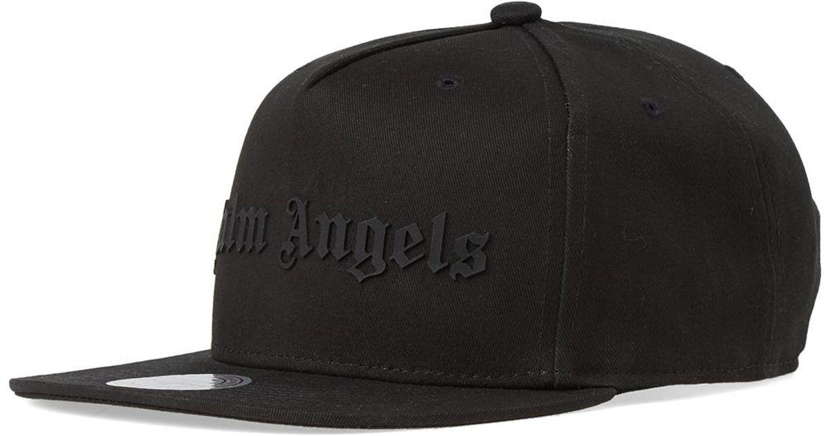 02bdc77ba6e Palm Angels Logo Cap in Black for Men - Lyst