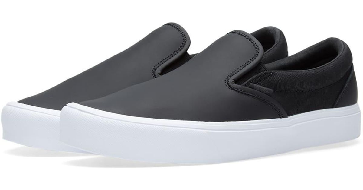 Lyst - Vans X Rains Slip On Lite in Black for Men eb55f019a