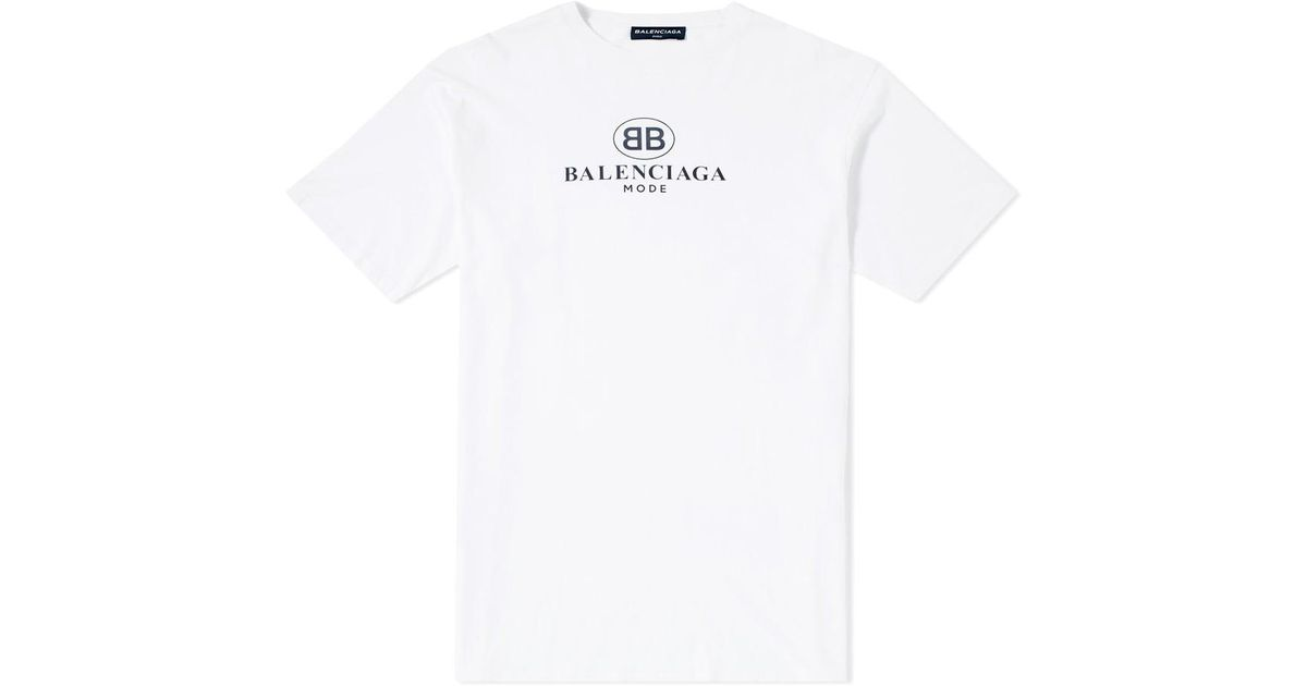 069d1b4f21ee Balenciaga Bb Mode T-shirt in White for Men - Save 25% - Lyst