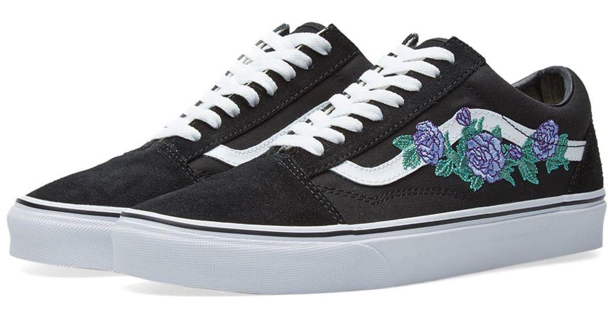 df5a289e3f6 Lyst - Vans Old Skool Rose Thorns in Black for Men