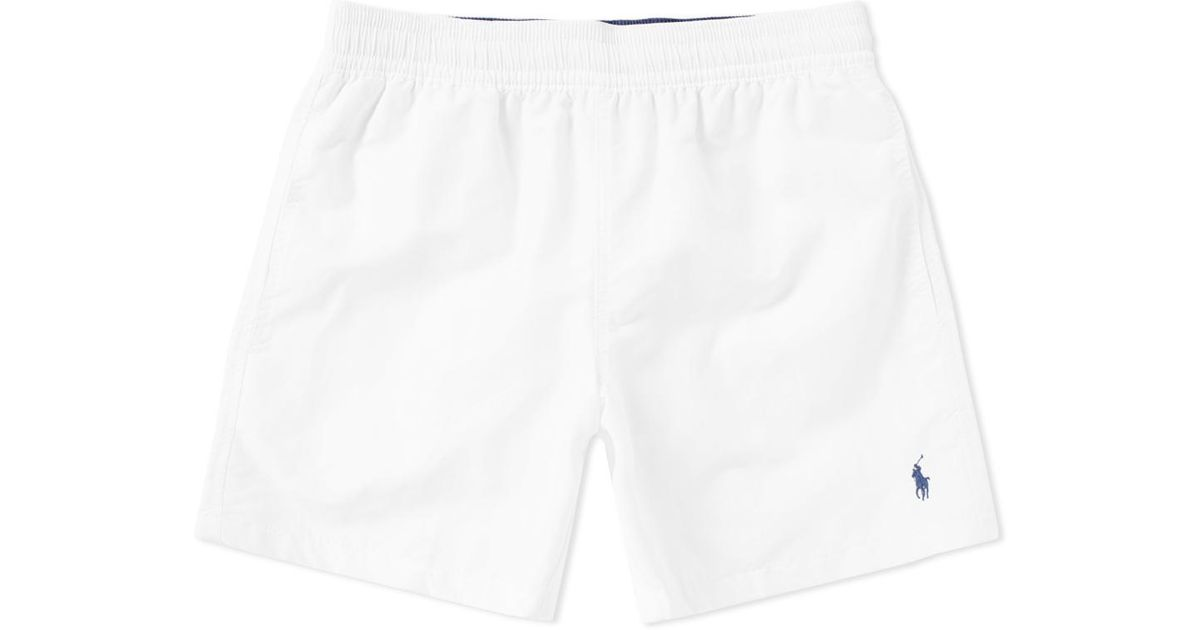 72a454ab92 ... new arrivals polo ralph lauren classic hawaiian swim short in white for men  lyst 45625 6943e