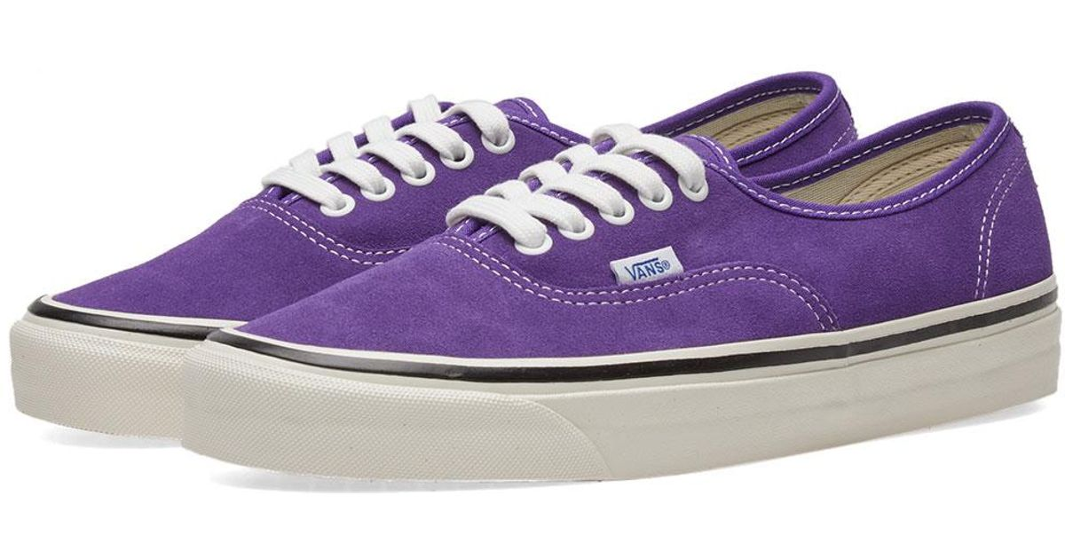 Lyst - Vans Authentic Sneakers in Purple - Save 61% cfdcd238a
