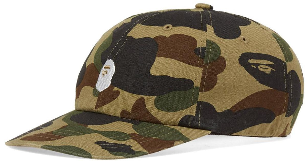 185ab1f92444 Lyst - A Bathing Ape 1st Camo Duck Panel Cap in Green for Men