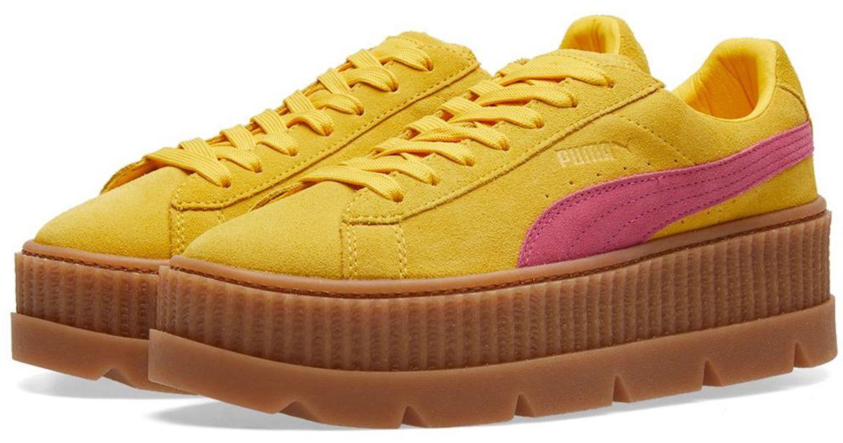 b82488437f6 Lyst - PUMA X Fenty By Rihanna Cleated Creeper in Yellow for Men