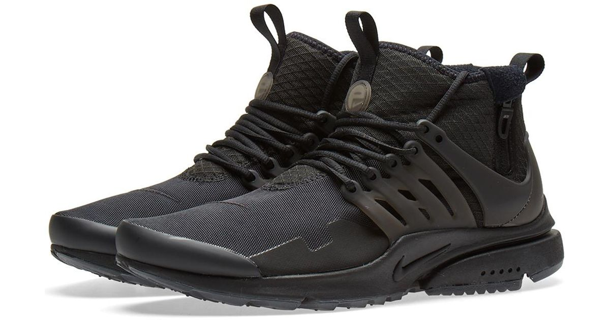 ddf0597ab478 Nike Air Presto Mid Utility in Black for Men - Lyst