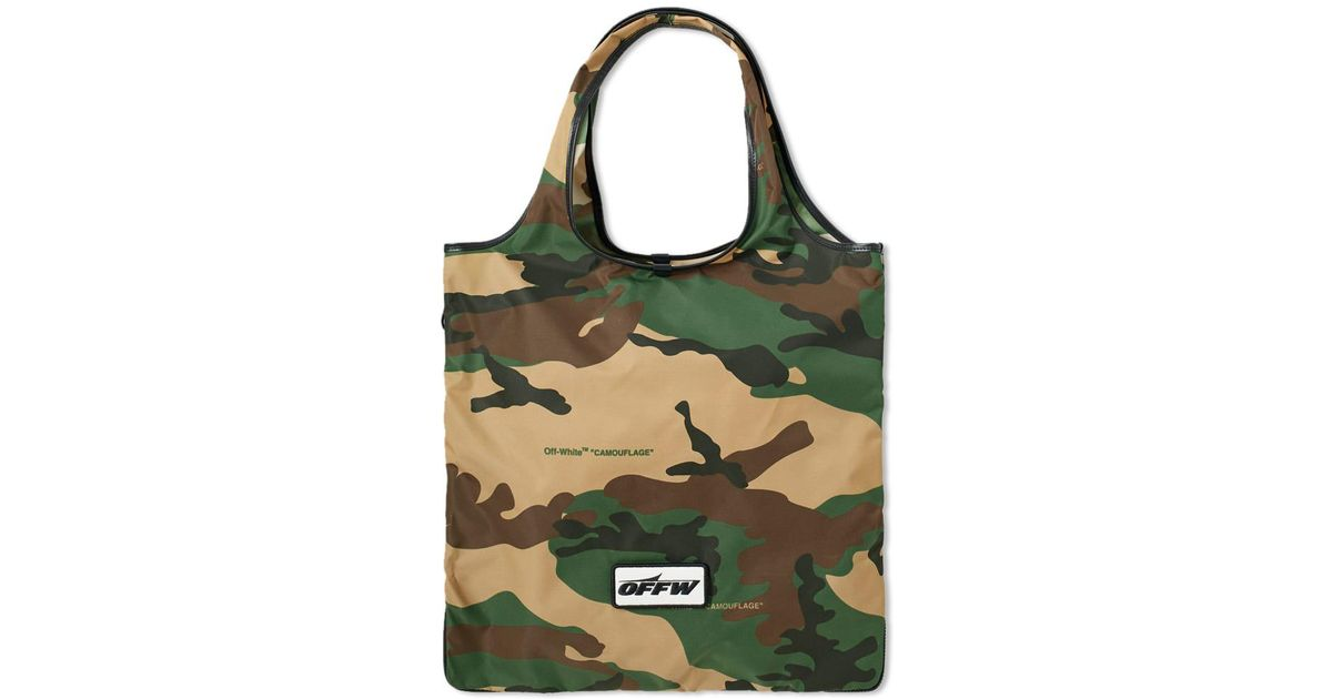 89d016c157e2 Lyst - Off-White c o Virgil Abloh Camo Zip Tote in Green for Men