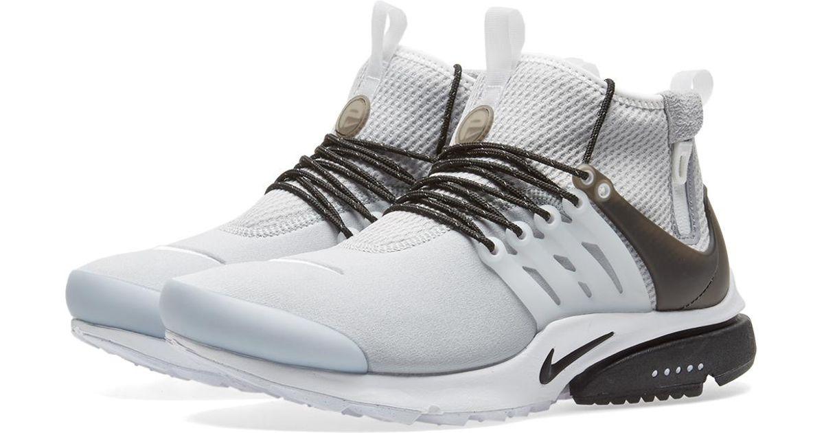 dbc52be1f6eb Lyst - Nike Air Presto Mid Utility in Gray for Men