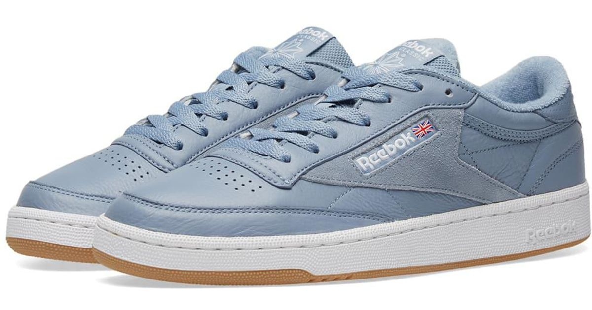 2e4914af3bf Lyst - Reebok Club C 85 Essential in Blue for Men
