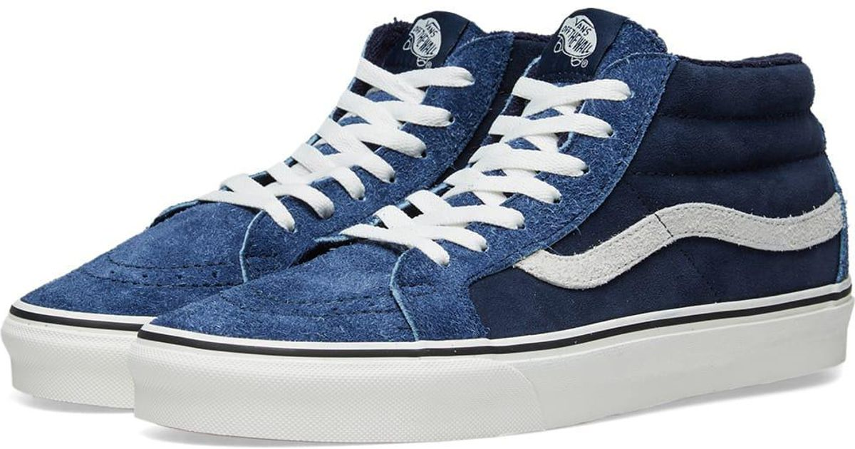 Lyst - Vans Sk8-mid Reissue Hairy Suede in Blue for Men 85b6341fa