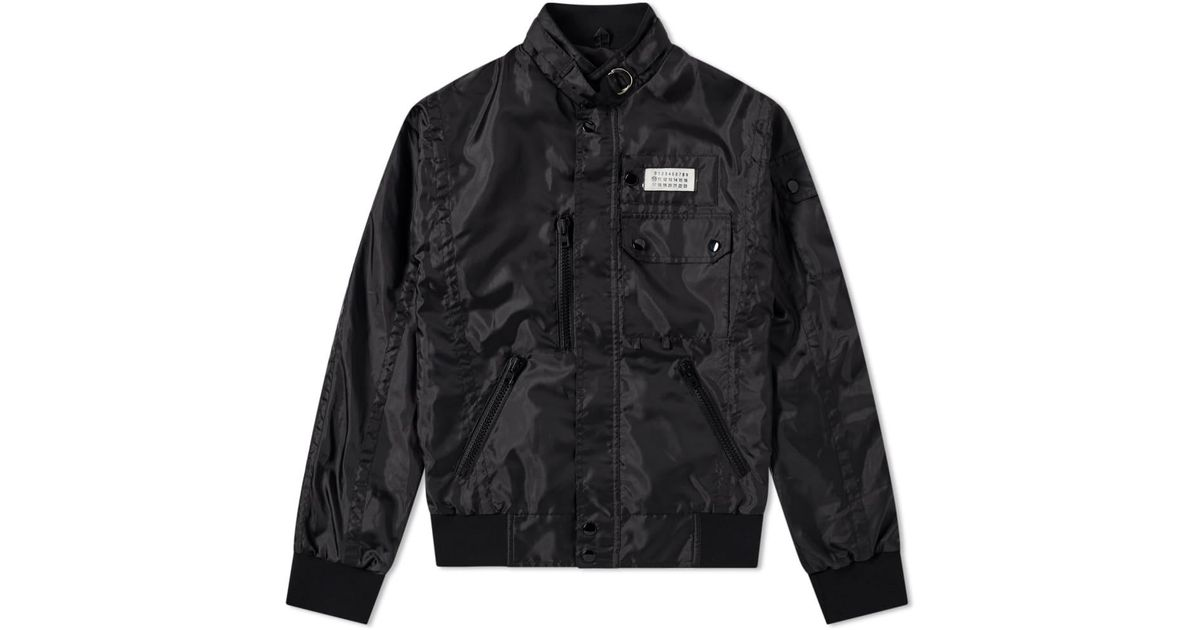 e7fe972494 Maison Margiela 14 Nylon Logo Sports Jacket in Black for Men - Save  41.3625304136253% - Lyst