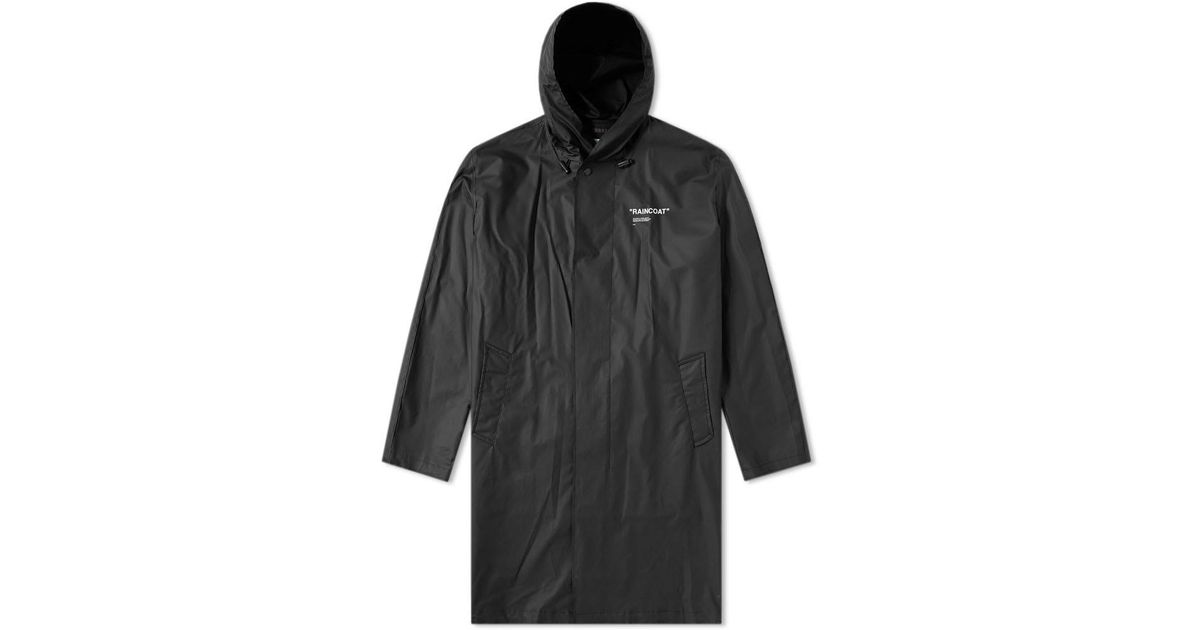70303c244897 Lyst - Off-White c o Virgil Abloh Quote Raincoat in Black for Men ...