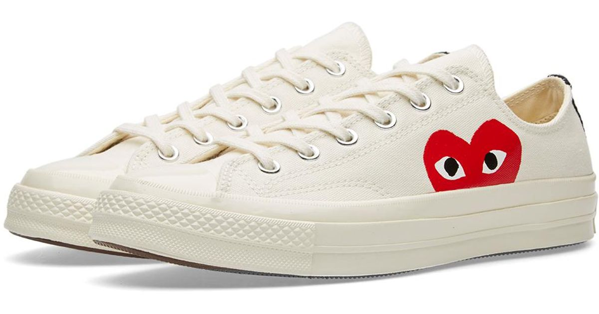 068d2e072903 COMME DES GARÇONS PLAY Comme Des Garcons Play X Converse Chuck Taylor 1970s  Ox in White for Men - Save 10% - Lyst