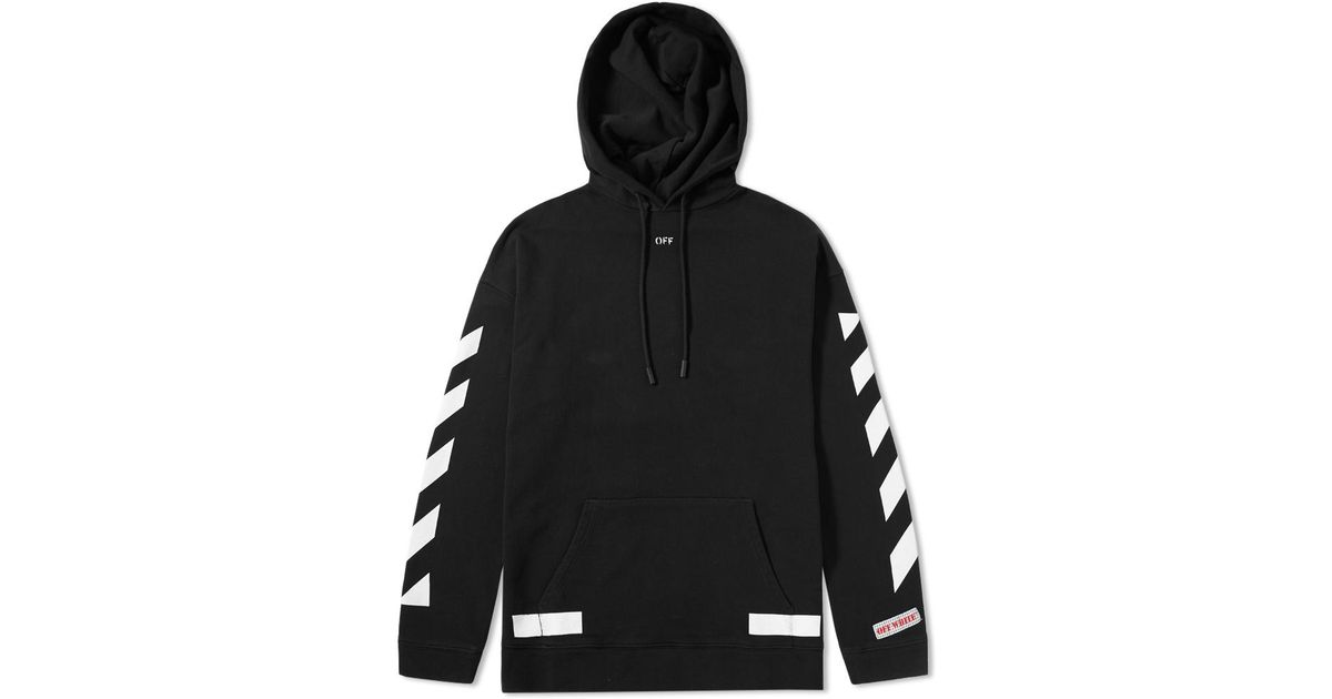 0213fcc6 Off-White c/o Virgil Abloh Diagonals Arrows Oversized Hoody in Black for  Men - Lyst