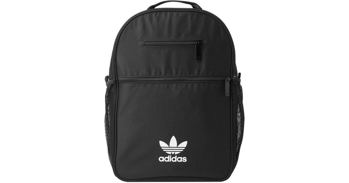 adidas Essential Trefoil Backpack in Black for Men - Lyst 264c58b5439a6