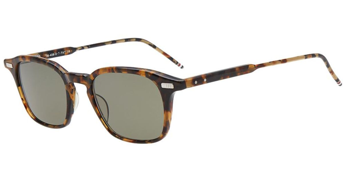 bad4726ef49 Lyst - Thom Browne Tb-406 Sunglasses in Brown for Men