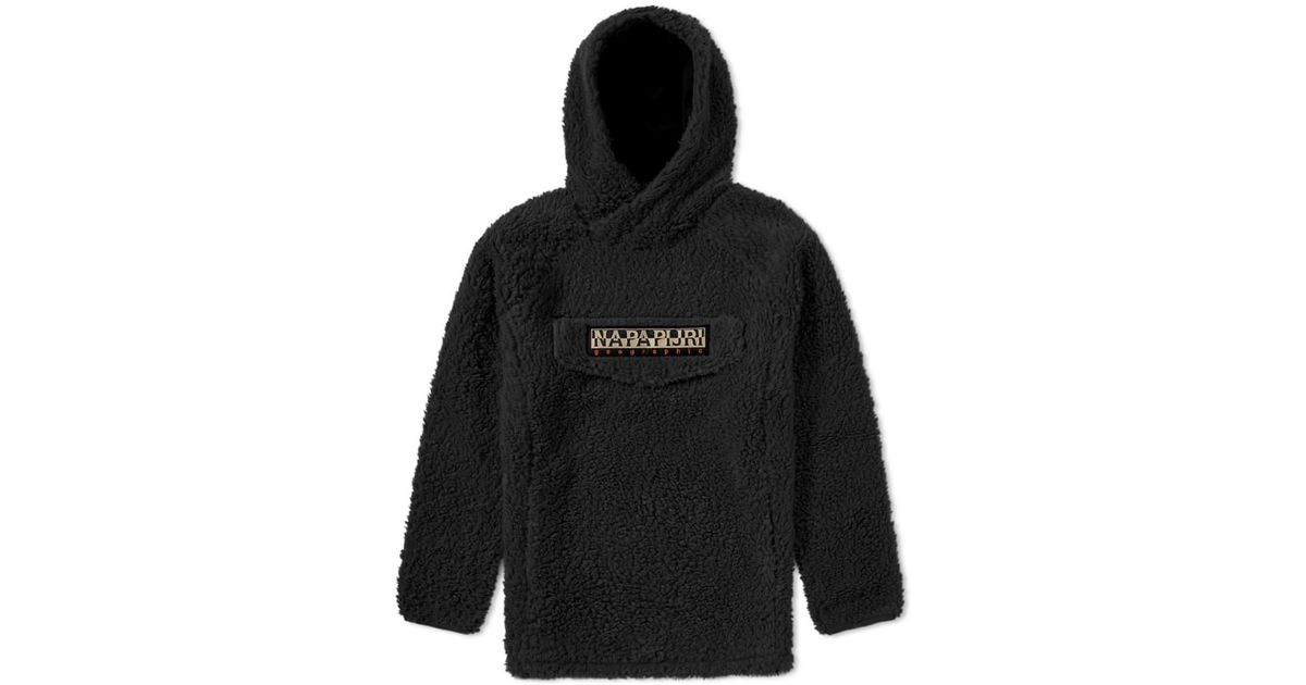 Lyst - Napapijri Tribe Telve Fleece Popover Hoody in Black for Men 4f83dba9e0a
