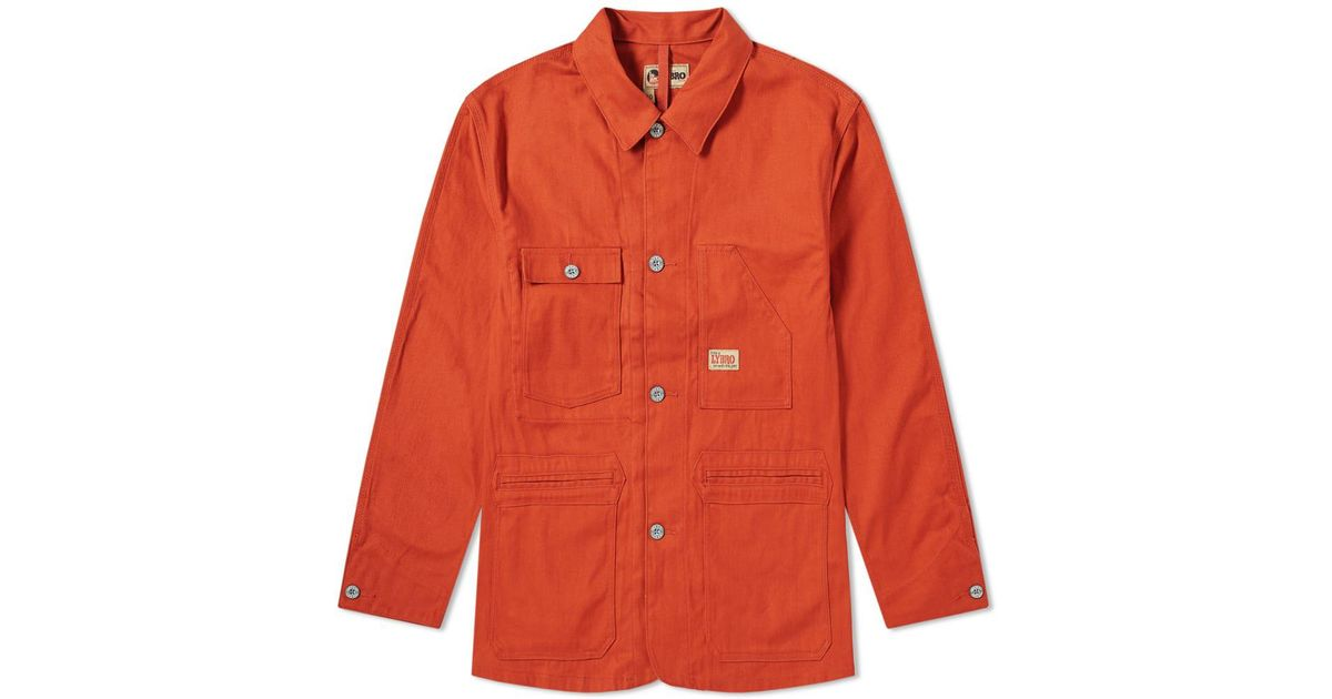 afdbacf5edb0 Lyst - Nigel Cabourn Lybro Work Jacket in Orange for Men - Save 23%