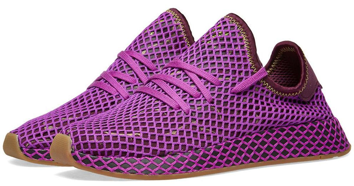 low priced a652a fa551 Lyst - adidas X Dragon Ball Z Deerupt Runner son Gohan in Purple for Men
