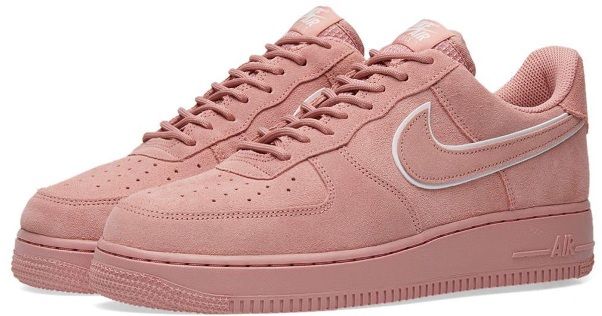 newest c0578 d93a1 Nike Air Force 1  07 Lv8 Suede in Pink - Lyst