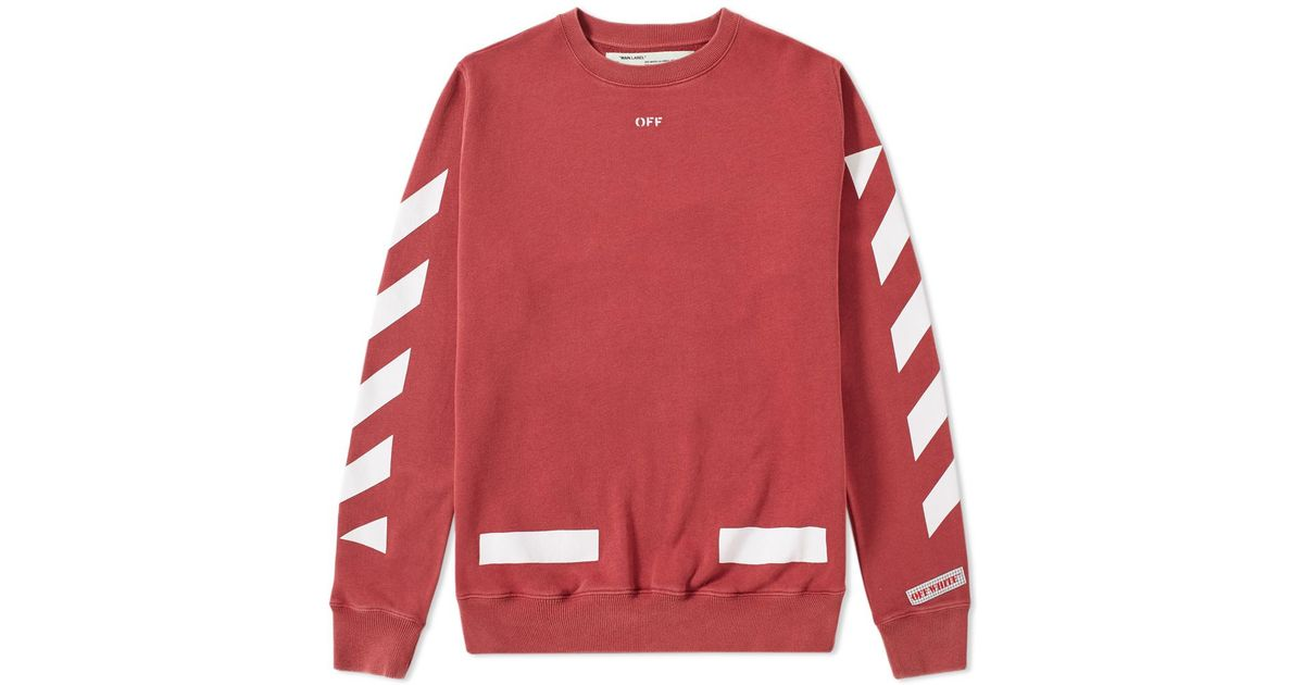 Off-white c/o virgil abloh Diagonals Arrows Crew Sweat in Red for ...
