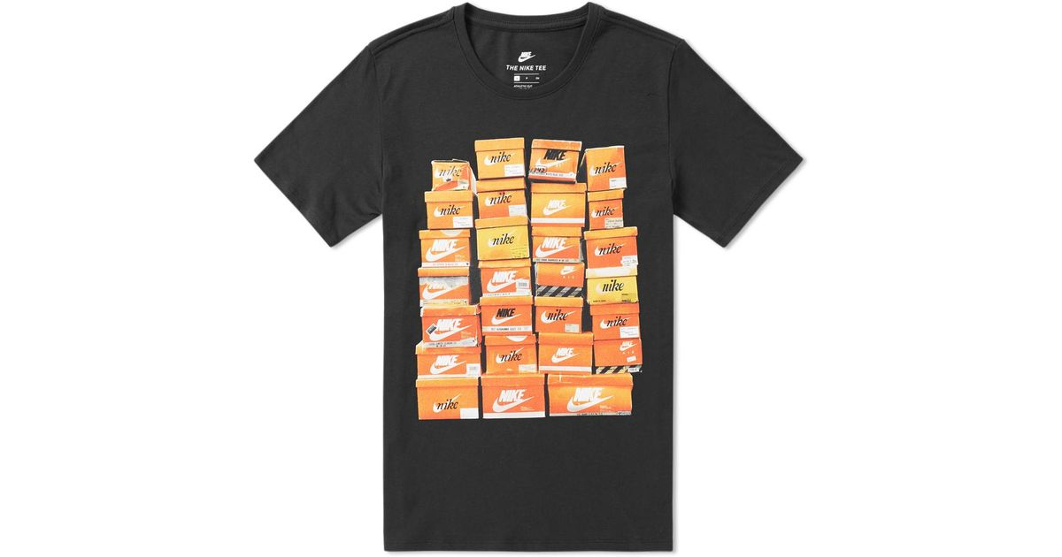 aef38d00 Lyst - Nike Graphic Shoebox Tee in Black for Men