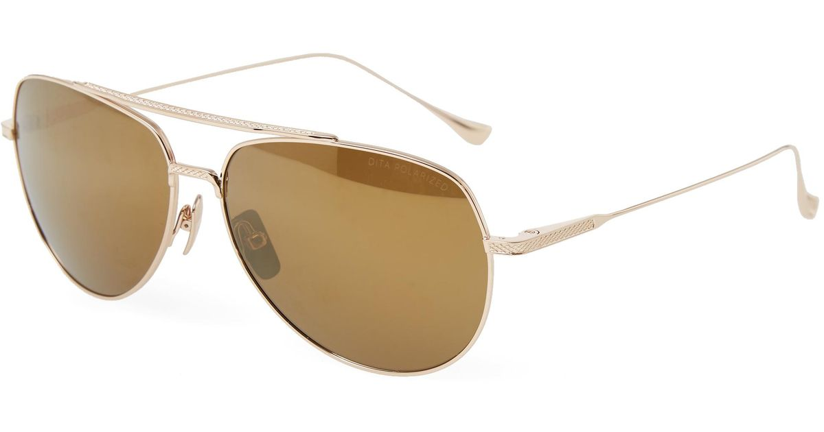 b846f6e49ee Lyst - DITA Flight.004 Sunglasses in Metallic for Men