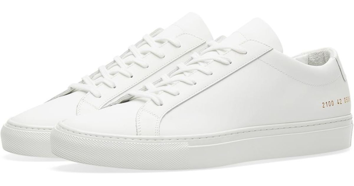2b35715307a1b7 Common Projects Achilles Low Lux in White for Men - Lyst