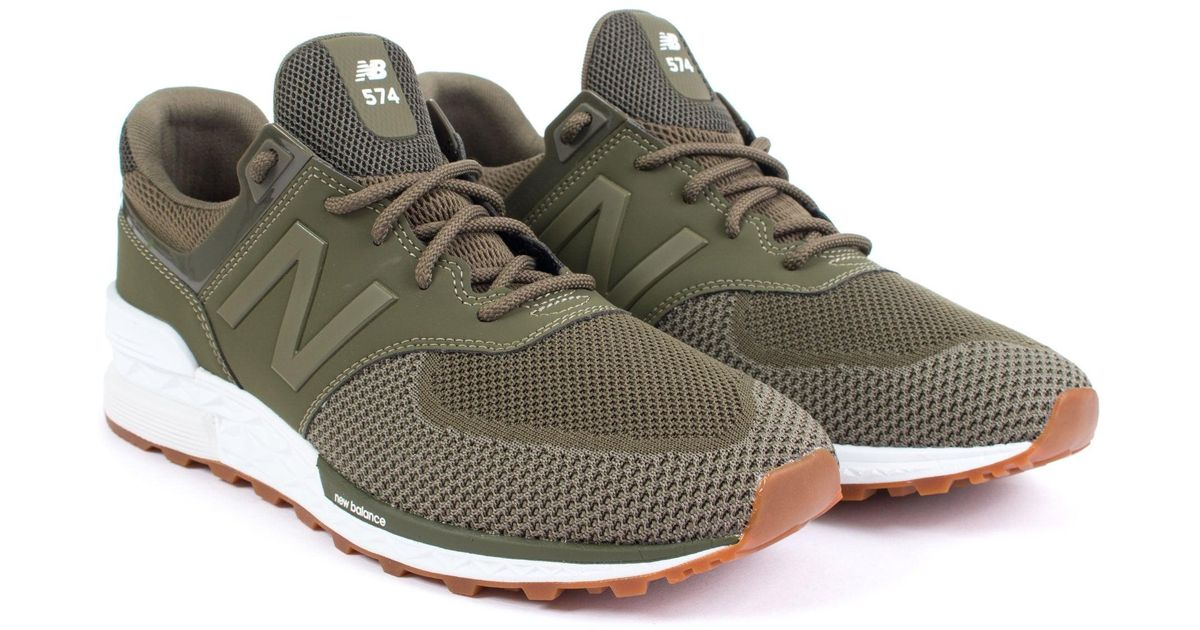 the best attitude 742ea f4469 New Balance - Green 574 Sport Engineered Mesh Sneaker for Men - Lyst