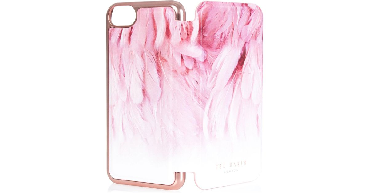f16cbc216 Ted Baker Dafina Angel Falls Iphone 6 6s 7 8 Mirror Case in White - Lyst