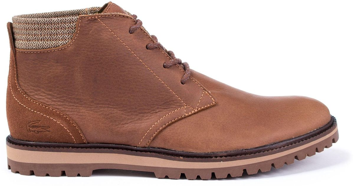 5bd9f52d0f1 Lacoste Montbard Chukka 417 In Brown in Brown for Men - Lyst