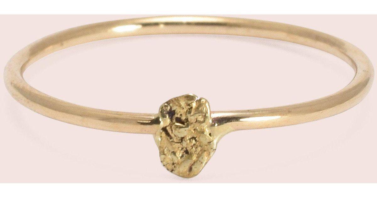 Lyst Erica weiner Gold Nug Ring in Metallic