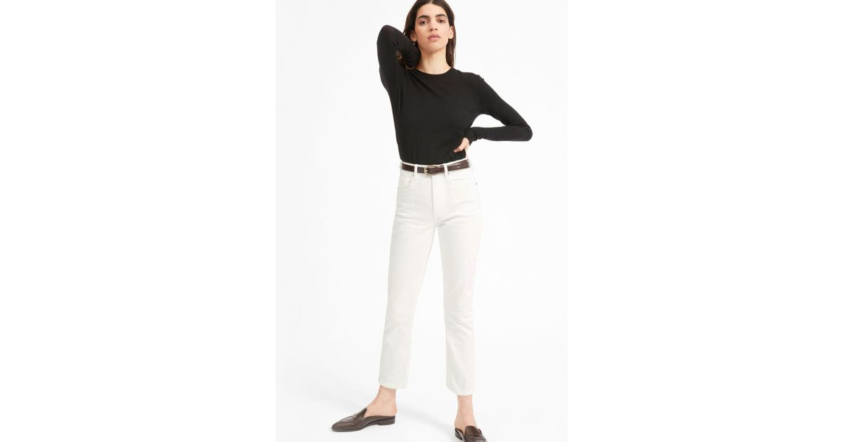 Lyst - Everlane The Cheeky Straight Jean in White
