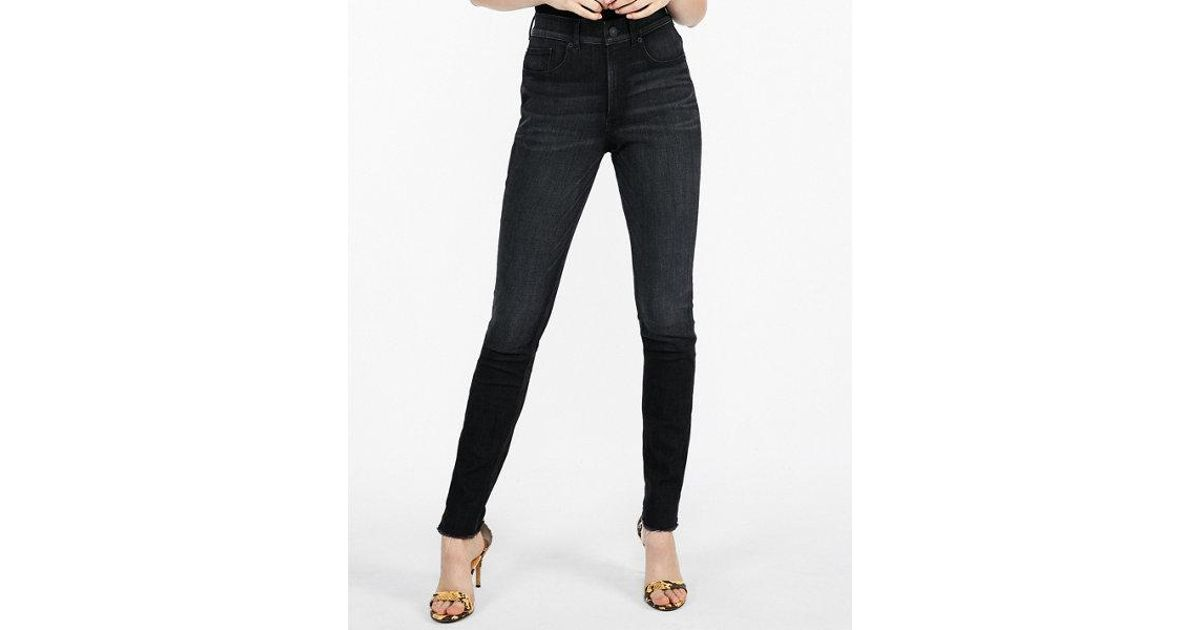 93b4703503a Express High Waisted Raw Hem Perfect Curves Jeggings