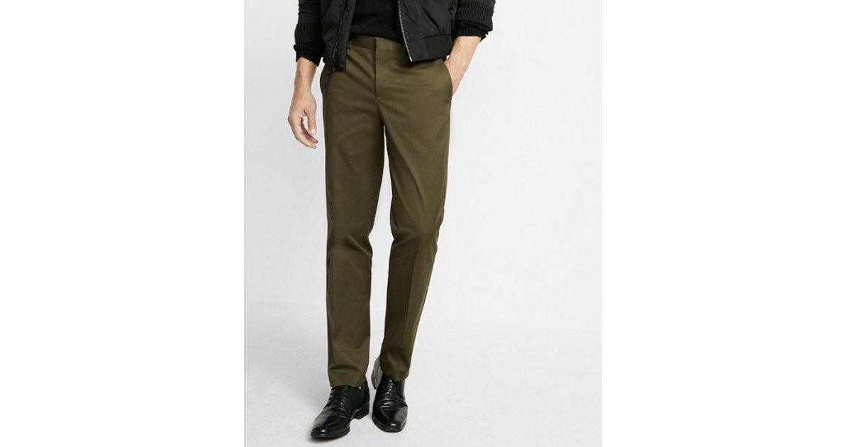 3d1d7bf59161d8 Express Men's Big & Tall Slim Dark Olive Stretch Cotton Dress Pant in Green  for Men - Lyst