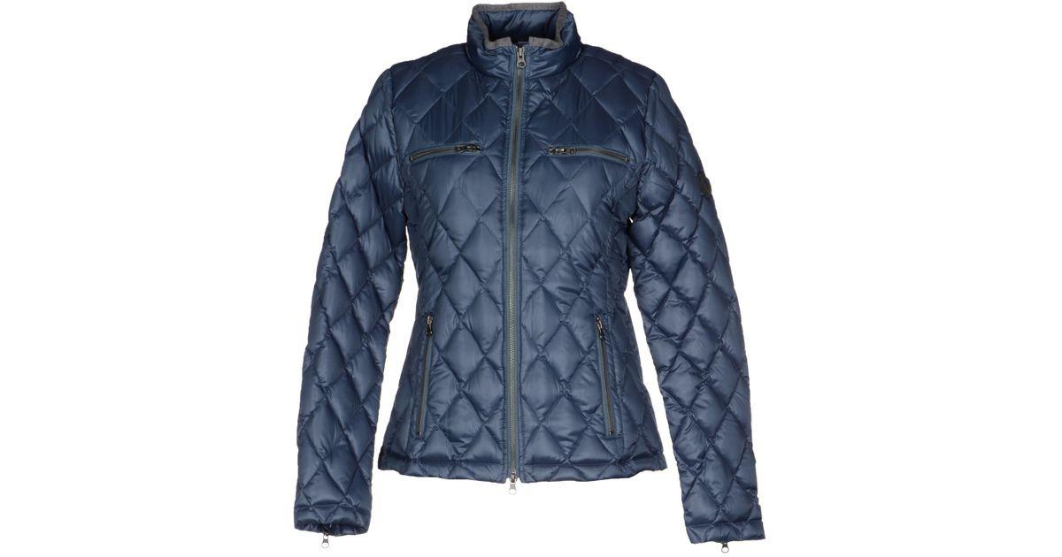 true religion down jacket in blue slate blue lyst. Black Bedroom Furniture Sets. Home Design Ideas