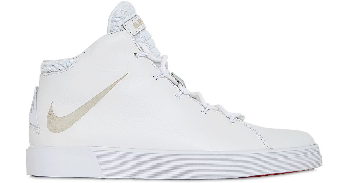 Nike Lebron 12 Lifestyle High Top Sneakers In White For