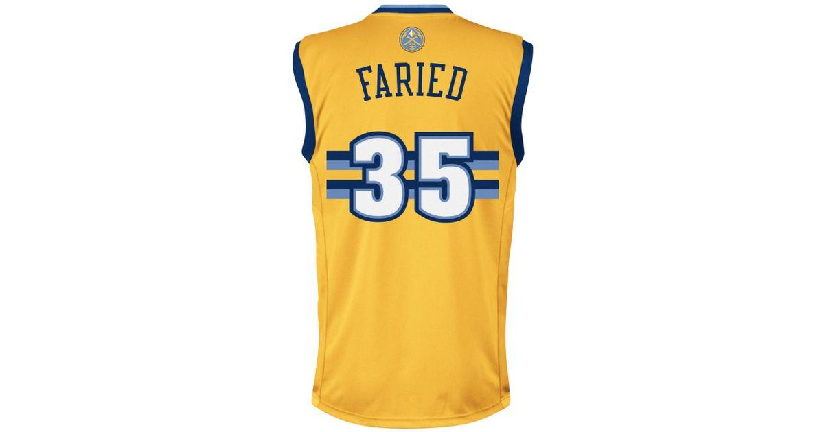 6df58da17 ... Adidas originals Mens Denver Nuggets Kenneth Faried Jersey in Metallic  for Men Lyst ...