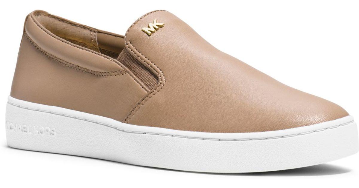 5348f968d720d Lyst - Michael Kors Keaton Leather Slip-on Sneaker in Black