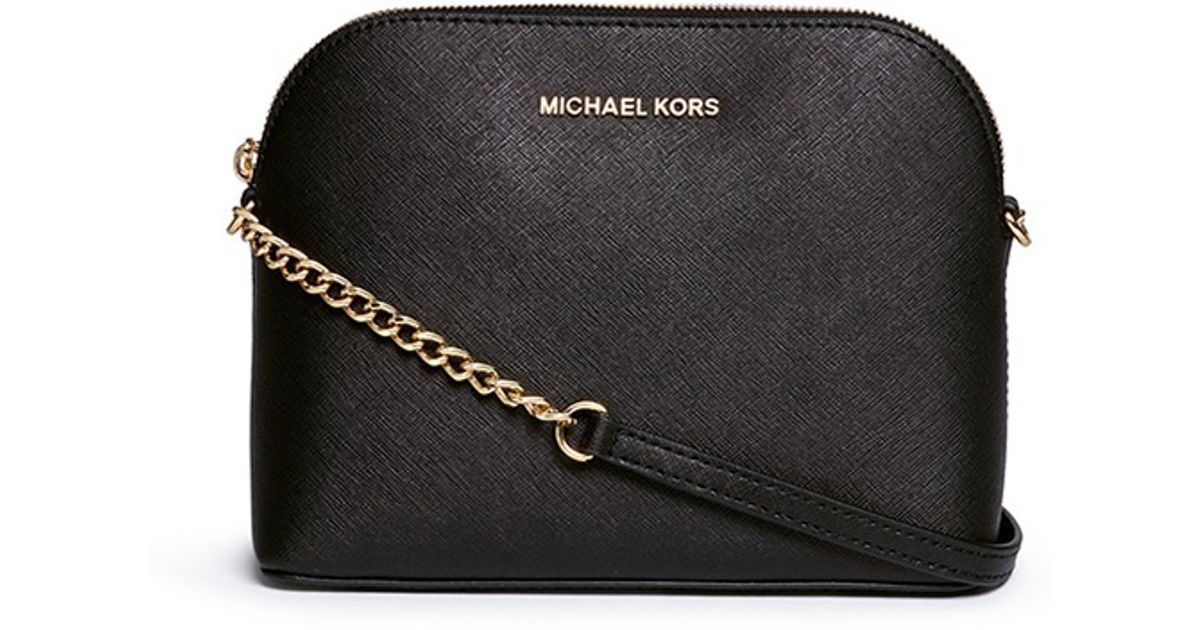 7adc6ae50d83 Michael Kors 'cindy' Large Saffiano Leather Crossbody Bag in Black - Lyst