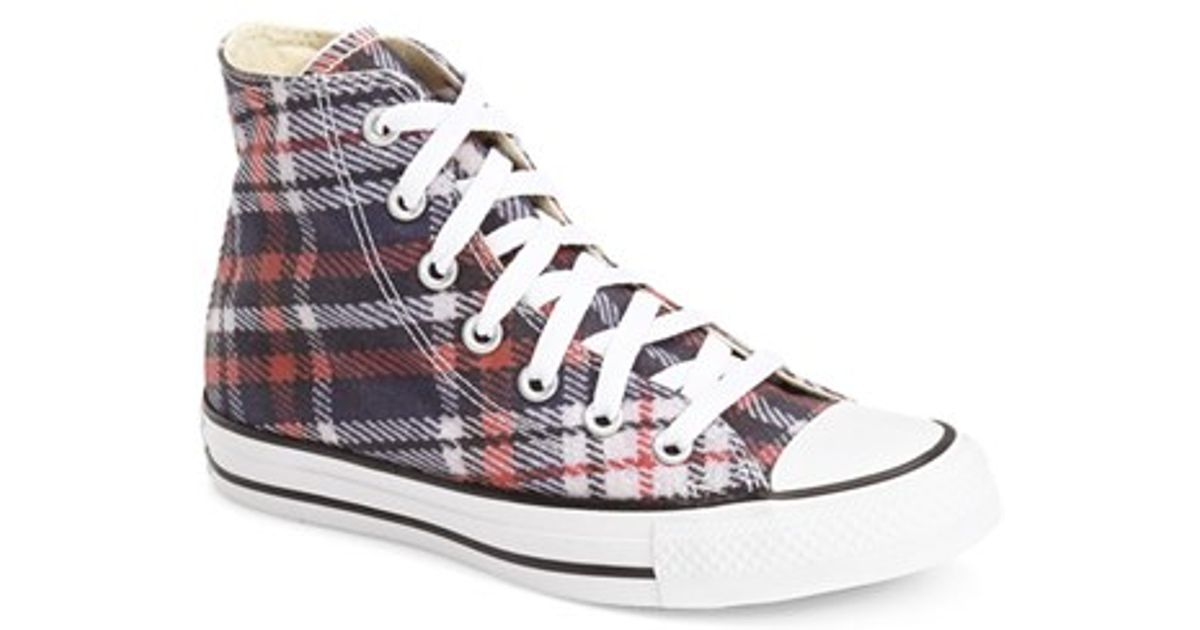 Lyst Converse Chuck Taylor All Star Plaid High Top Sneaker In Black