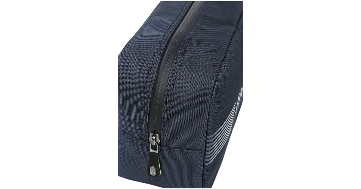 67a097653818 BOSS Green Wash Bag In Nylon With Trim   pixel washbag  in Blue for Men -  Lyst